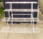 "GREEN BARN ORCHID BENCH - 48"" wide, 4 tier EASY TO SHIP"