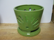 "LOTUS75  bright green round 7"" x 6.5"" high"