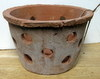 "Rustic Clay Pot 9"" w x 5.5"" h - rough finish"