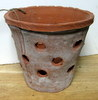 "Rustic Clay Pot 6"" w x 5"" h - rough finish"