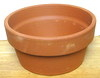 "Clay Pot 8"" shallow, 4"" high, one hole in bottom"