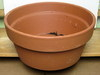 "Clay Pot Shallow 14.5"", 7"" high, one hole in the bottom"
