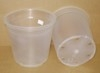 "Translucent 6"" plastic pot bottom drainage"