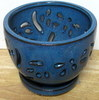 LOTUS79 Lotus Pot-blue round 5 x5 in. high  OUT OF STOCK