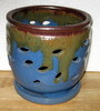 "LOTUS62  Blue multi  6"" x 6"" high"