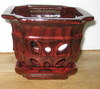 "LOTUS85  Red 8"" x 8"" x 6"" high OUT OF STOCK"