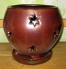 P-LOTUS-38 Moon Star Orchid Pot Oxide SALE PRICE $13.95