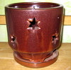 P-LOTUS-45 River Star Orchid Pot Oxide SALE PRICE $8.95