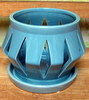 "C-LOTUS-52 BLUE 4"" X 4"" HIGH  NO BOTTOM DRAIN HOLE"