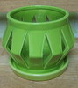 "C-LOTUS-53  GREEN 4"" X 4"" HIGH  NO BOTTOM DRAIN HOLE"