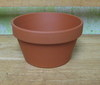 "Clay Pot 5"" shallow, 5"" x 3"" deep, one hole in bottom"