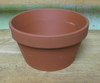 "Clay Pot 6.25"" shallow, 6.25"" x 3.25"" deep, one hole in bottom"