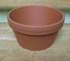 "Clay Pot 7"" shallow, 7"" x 3.5"" deep, one hole in bottom"