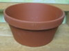 "Clay Pot 9.25"" shallow, 9.25"" x 4.5"" deep, one hole in bottom"