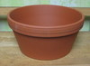 "Clay Pot 10"" shallow, 10"" x 5"" deep; one hole in bottom"